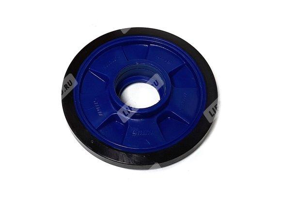 Каток гусеничного блока (обрезиненный) 160mm; T150 (2017)(синий)
