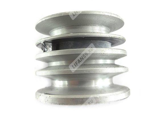 Шкив d25 мм ведущий 3-х ручейковый алл. (шпонка 7 мм) (Каскад/Кадви)