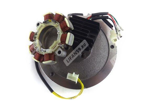 Комплект электрооборудования 182F,188F,190F 132 Вт (11А) (для РУЧ.стартера, без венца)