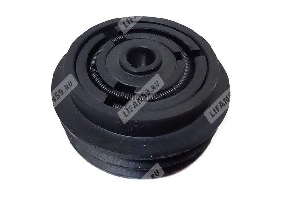 Сцепление центробежное, двухручейковое, фрикционное, под ремень А-типа, под вал 20 мм. (2А130-20)