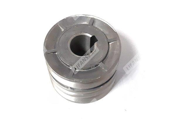 Шкив d25 мм ведущий 3-х ручейковый алл. (шпонка 8 мм) (Каскад/Кадви)