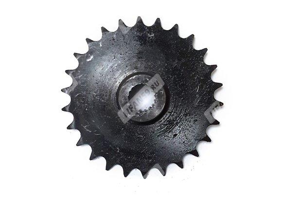 Звезда ведомая большая (Z=26, шлицы, шаг 15,875) для мотобуксировщика