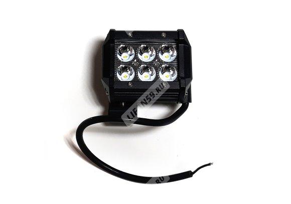 Фара светодиодная CL-18W-S (дальний свет, мет.корп.6 диодов) Арт.5186
