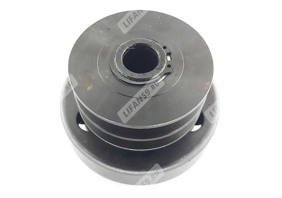 Сцепление центробежное, двухручейковое, фрикционное, под ремень A-типа, под вал 20 мм