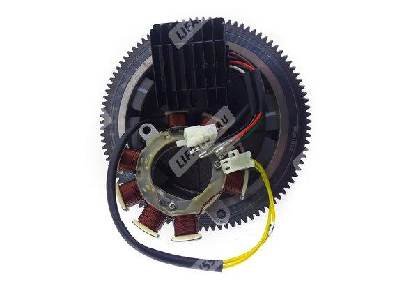 Комплект электрооборудования 192F-2TD (KP460) 132Вт (11А) (для ЭЛЕКТРО стартера, с венцом)