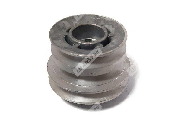 Шкив d25 мм ведущий 3-х ручейковый (Нева) шпонка 7 (косой)